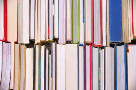 Background of  books view from the side