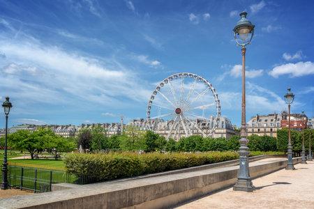 Tuileries garden, Ferris wheel in the background, Paris, France