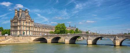 Pont Royal (Royal bridge) and the Seine river in Paris, France