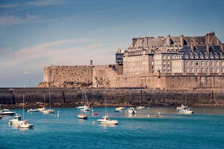 Saint Malo cityscape, Brittany, France