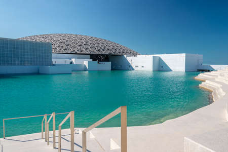 Louvre, Abu Dhabi, United Arab Emirates - The famous museum of the French architect Jean Nouvel