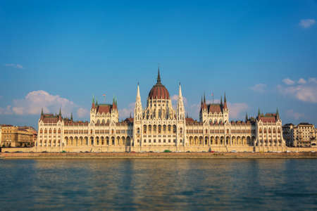 Budapest parliament and Danube river, Hungary