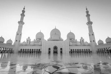 Sheikh Zayed Grand Mosque in Abu Dhabi near Dubai, United Arab EMirates Editorial
