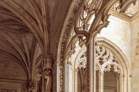Arches in the cloister of the Monastery of San Juan de los Reyes  in Toledo, in Castile-La Mancha, Spain Editorial