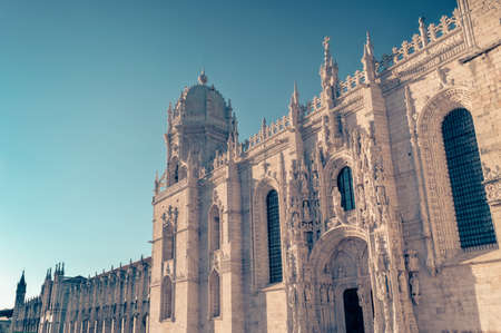 Jeronimos monastery, a UNESCO World Heritage site in Belem district in Lisbon, Portugal