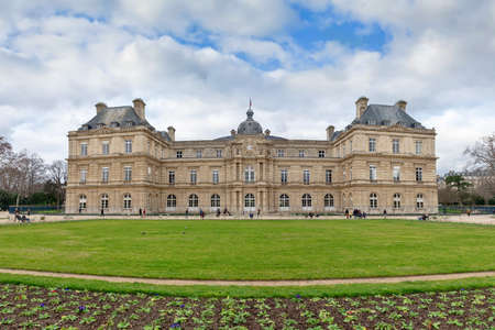 The Senate in the Jardin du Luxembourg (Luxembourg gardens) in Paris, France Editorial