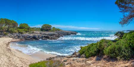 View of Cala Talaier beach in Menorca, Balearic islands, Spain
