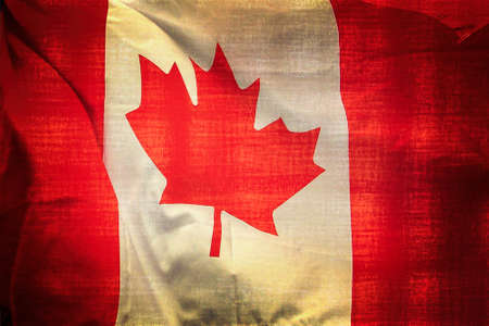 Canadian flag background, vintage texture