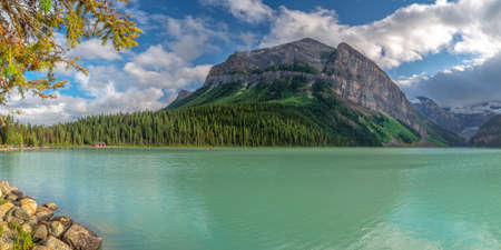 Lake Louise in Banff National Park, Alberta, Rocky Mountains, Canada Stock Photo
