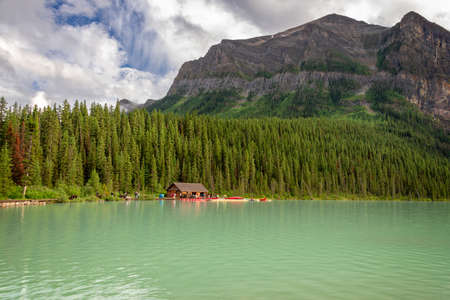 Lake Louise in Banff National Park, Alberta, Rocky Mountains, Canada Editorial