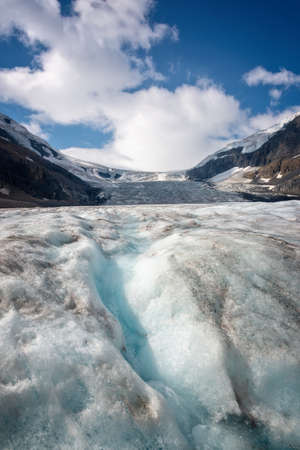 Athabasca glacier in Columbia Icefield, Jasper National park,  Rocky Mountains, Alberta, Canada