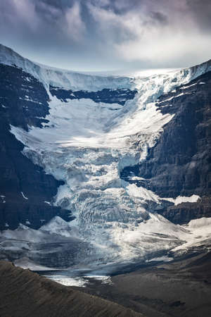 View of Snowdome glacier in Columbia Icefield, Jasper National park,  Rocky Mountains, Alberta, Canada