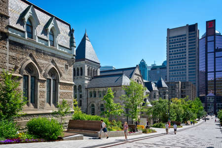 McGill university on Mc Tavish street on Montreal, Quebec Canada Editorial