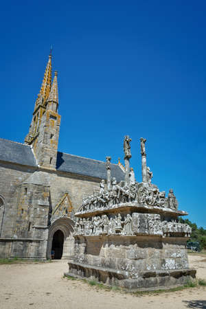 Calvary and chapel of Notre Dame de Tronoen in Finistère, Britanny France