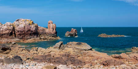 The coast of Bréhat island in Côtes d'Armor, Brittany, France