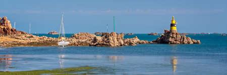 Men-Joliguet beacon (Tourelle de Men-Joliguet) on Bréhat island in Côtes d'Armor, Brittany, France