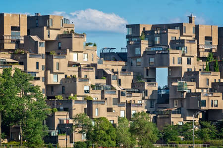 Habitat 67, modern architecture in Montreal, Canada