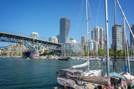 Granville bridge from Granville island in Vancouver, British Columbia, Canada Editorial