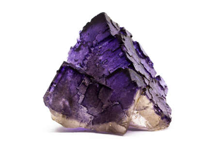Natural two-tone crystal fluorite, natural cut