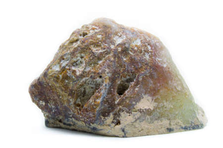 흰색 배경에 자연 거친 오팔 돌 다시보기 스톡 콘텐츠 - 93808506