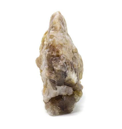 Natural untreated piece of hackmanite on a white background isolated