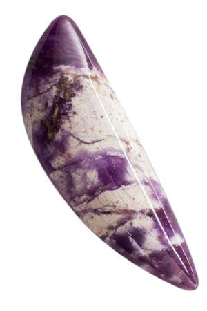 Natural cabochon of glossy vesuvianite close up