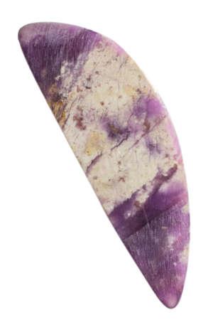 Natural cabochon of glossy vesuvianite close up 스톡 콘텐츠 - 129106285