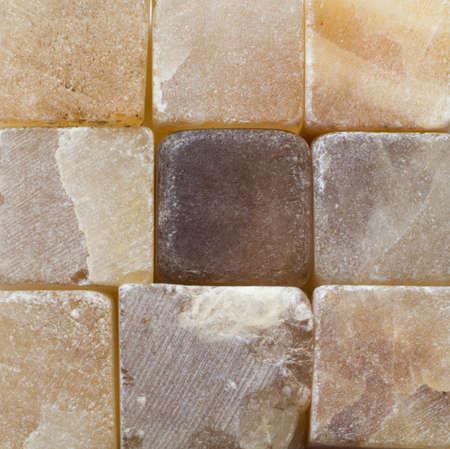 Natural small bricks of agate close up