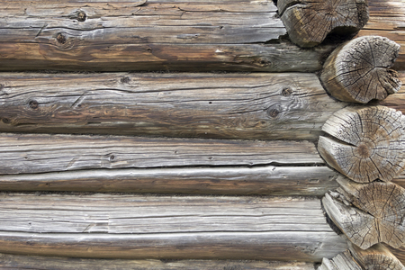 calibrated: Natural background pattern old wooden house. texture