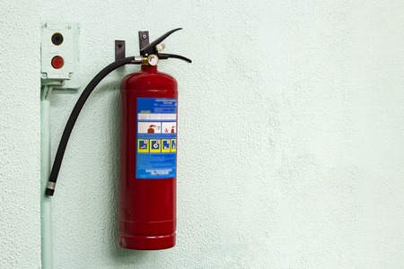 Fire Extinguisher on wall Fire safety