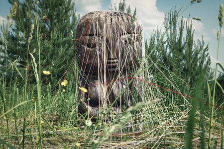 Deidad antigua de la tierra y la fertilidad Pachamama. Foto de archivo