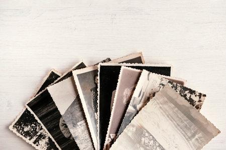Old black-and-white photos. Retro photo on a white background.