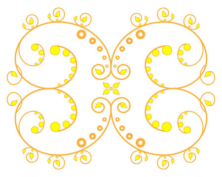 Orange and yellow vector lace Vector