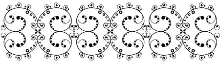 Black floral vector lace on white Vector
