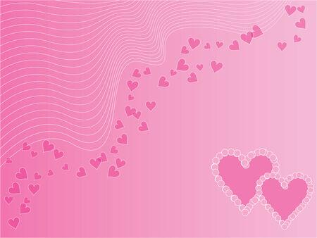 love wallpaper: Pink amor con corazones de papel tapiz y elipses