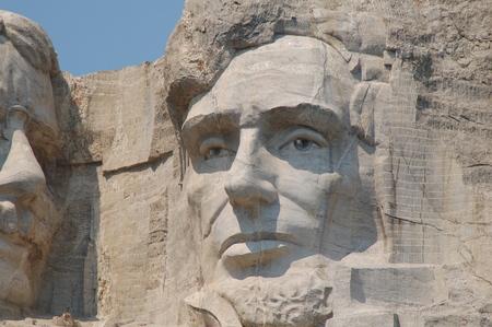 Abraham Lincoln in Mount Rushmore National Memorial - South Dakota