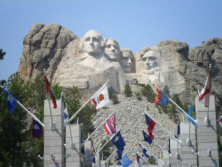 Flags in Mount Rushmore National Memorial - South Dakota