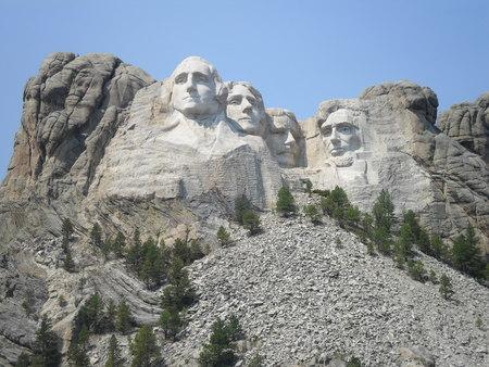 Washington, Jefferson, Roosevelt, Loncoln in Mount Rushmore National Memorial - South Dakota