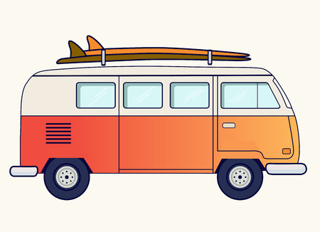 Retro travel van