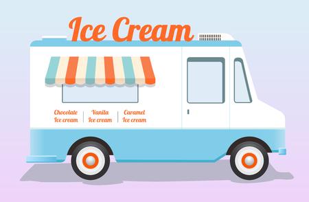 colorful ice cream truck