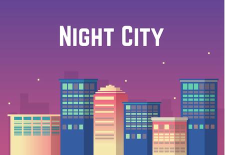 Night cityscape illustration Illustration