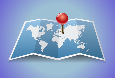 Vector map of the world Illustration