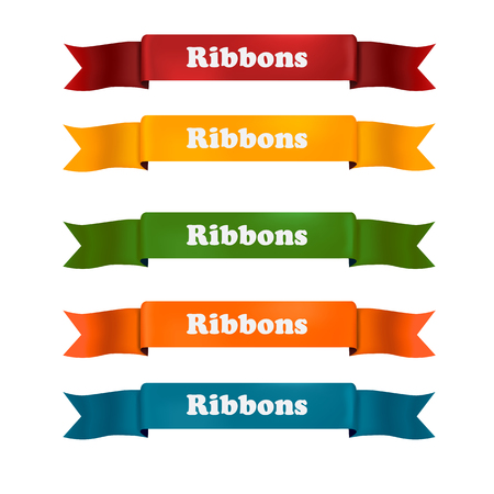 Vector ribons set, isolated on background