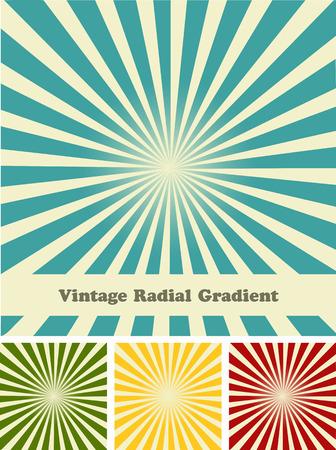 Retro rays comic background raster gradient halftone pop art style Illustration