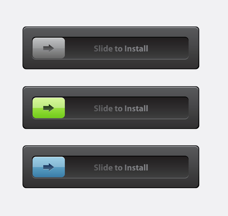 Set of sliders and switches. block and unlock sliders Çizim