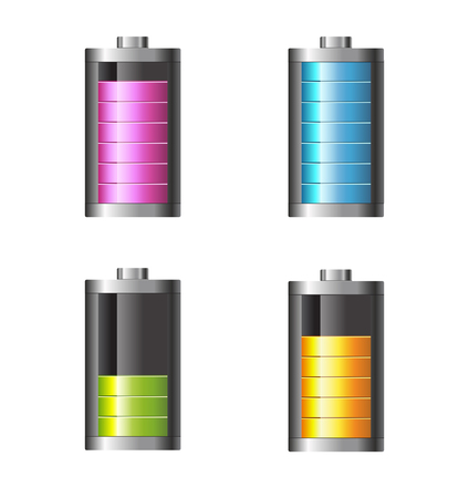 Battery charge vector illustration on white background. Vector illustration Illustration