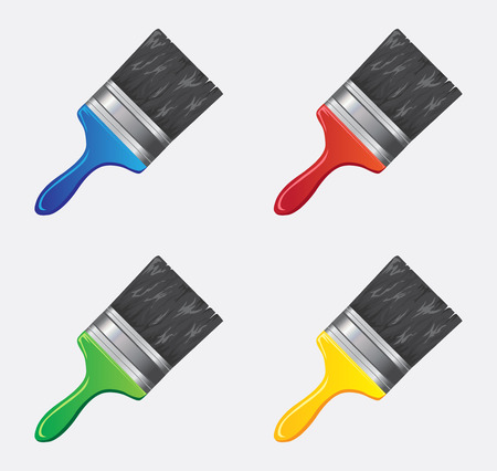 Brush icon in different colors