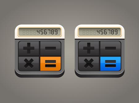 Vector illustration of calculator icon