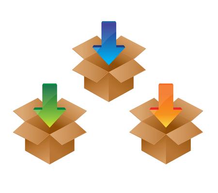 Download icon. Load internet data symbol. Иллюстрация