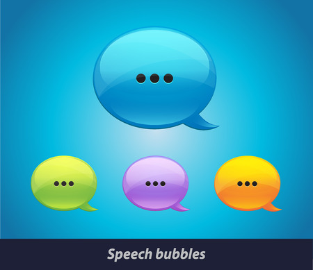 Vector collection of isolated speech bubbles on the background. EPS 10